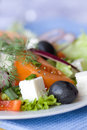 Healthy greek salad Royalty Free Stock Image
