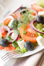 Healthy greek salad Royalty Free Stock Photography
