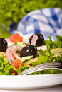 Healthy greek salad Royalty Free Stock Images