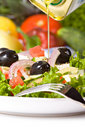 Healthy greek salad Royalty Free Stock Photos