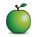 Healthy green apple cartoon outline Royalty Free Stock Photography