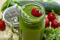 Healthy Green Juice Smoothie Drink Royalty Free Stock Photo