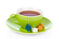 Healthy green tea cup Stock Image
