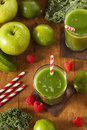 Healthy Green Vegetable and Fruit Smoothi Juice Royalty Free Stock Photo