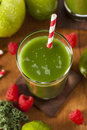 Healthy Green Vegetable and Fruit Smoothi Juice Royalty Free Stock Image