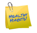 Healthy habits post it Royalty Free Stock Photos