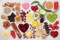 Healthy Heart Food for Vitality and Energy Royalty Free Stock Photo