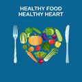 Healthy heart with healthy food concept
