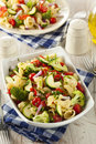 Healthy Homemade Pasta Salad Royalty Free Stock Photo