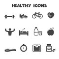 Healthy icons Royalty Free Stock Photo