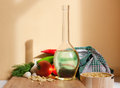 Healthy ingredients beautiful lighting on a still life with vegetable food Stock Photos