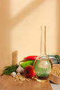 Healthy ingredients beautiful lighting on a still life with vegetable food Royalty Free Stock Image
