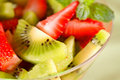 Healthy kiwi fruit and berries Stock Photo