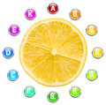 Healthy life lemon vitamins illustration Stock Image