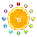 Healthy life orange vitamins illustration Royalty Free Stock Photography