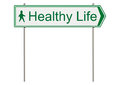 Healthy life traffic sign on a white background raster Royalty Free Stock Images