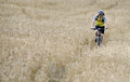 Healthy lifestyle athlete man riding outdoors trail Stock Images