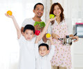 Healthy lifestyle concept of asian family Royalty Free Stock Photography