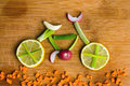 Healthy lifestyle concept - vegetable bike Royalty Free Stock Photo