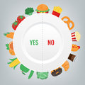 Healthy Lifestyle concept. We are what we eat. Vector