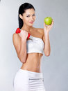 Healthy lifestyle concept of woman Stock Image