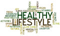 Healthy Lifestyle Concept Word Cloud