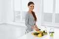 Healthy Lifestyle, Eating. Woman With Lemons And Limes. Vitamin Royalty Free Stock Photo