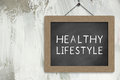 Healthy Lifestyle Sign Royalty Free Stock Photo