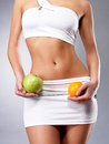 Healthy lifestyle of woman with slim body Royalty Free Stock Photo