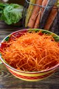 Healthy low calories food, ingredient for salads fresh grated ca