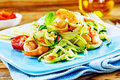 Healthy low carbohydrate seafood starter Royalty Free Stock Photo