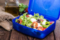 Healthy lunchbox with fresh salad tomato mozzarella Royalty Free Stock Images