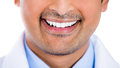 Healthy man teeth and smile close up of a isolated on white background Royalty Free Stock Image