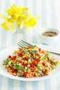 Healthy meal salad of whole grain with summer vegetables Stock Photo
