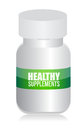 Healthy medical supplement pills jar Royalty Free Stock Photography