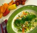 Healthy mediterranean salad Stock Photo