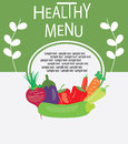 Healthy menu design sample text Stock Photos