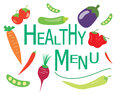 Healthy menu design sample text Royalty Free Stock Photography