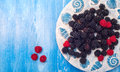 Healthy mixed fruit, Blueberry. Fresh berries