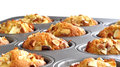 Healthy muffins that are baked with apples and almonds Stock Image