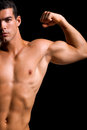 Healthy muscular young man Royalty Free Stock Image