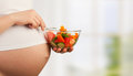 Healthy nutrition and pregnancy Royalty Free Stock Images