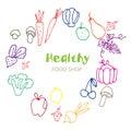 Healthy Organic eco vegetarian food.