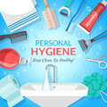 Healthy Personal Hygiene Background Royalty Free Stock Photo