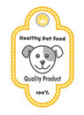 Healthy Pet Food label Stock Images