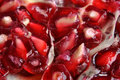 Healthy pomegranate is a sweet fruit Stock Images