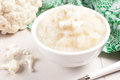 Healthy puree from raw cauliflower florets Stock Photography