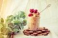 Healthy raw vegan chocolate banana ice cream nicecream.Sun ton