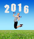 Healthy resolutions for the New Year 2016. Royalty Free Stock Photo