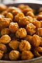 Healthy roasted seasoned chick peas with different spices Stock Images